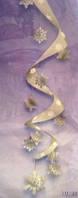 Подвесное украшение Спираль со снежинками 120см