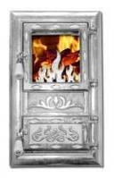 Дверца для печи и барбекю Огонек светлый, печная дверца со стеклом