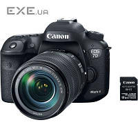 Цифровой фотоаппарат Canon EOS 7D Mark II + объектив 18-135 IS USM + WiFi адаптер W-E1 (9128B163)