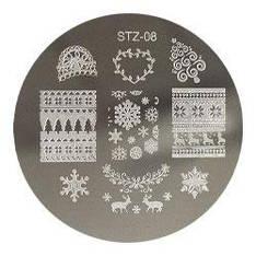 Стемпинг диск метал. малый круглый d=5.5cm STZ-08