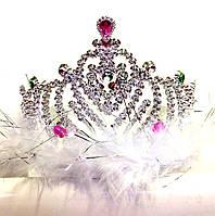 Корона принцессы, высота 9 см, пластик