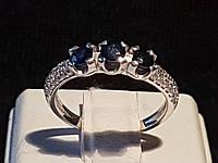 Серебряное кольцо Илона с сапфирами. Артикул 1631/9р-SPH, фото 1