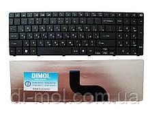 Оригінальна клавіатура для Gateway NV50, NEW90, Packard bell TM81 series, ru, black