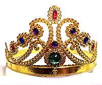 Корона королевы золотистая, высота 11,5 см