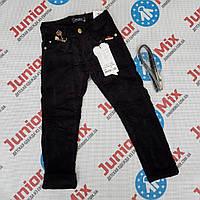 Детские вильветовые брюки для девочек черного цвета оптом SEAGULL