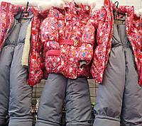 Детские зимние комбинезоны Китти для девочек 2-5 лет S496