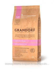 """Сухой низкозерновой корм """"Grandorf ягненок с рисом"""" 29/18 (для щенков всех пород) 1 кг"""
