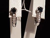 Серебряные серьги Илона с сапфирами. Артикул 2129/9р-SPH, фото 1
