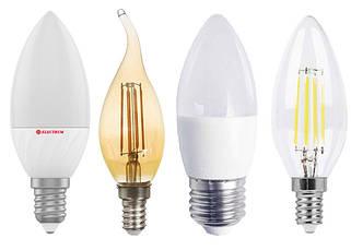 Светодиодные лампы свечи (C37) и свечи на ветру (CF37)