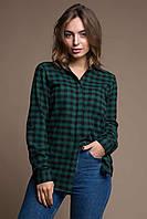 Рубашка в зеленую клетку (ZARA) ERIKA зеленая
