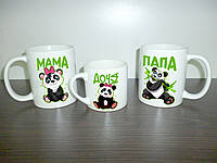 """Чашки для всей семьи """"Панды"""""""