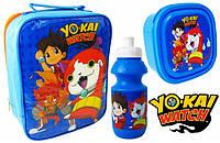 Набор: ланчбокс, контейнер для завтрака и бутылочка Yo-Kai Watch Дисней
