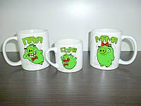 """Кружки для всей семьи """"Angry Birds"""", папа, мама, сын"""