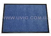 Придверный коврик 85х60 см. голубой