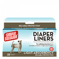 Simple Solution Disposable Diaper Liners - Light Flow влагопоглощающие гигиенические прокладки для животных, 22шт