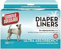 Simple Solution Disposable Diaper Liners - Heavy Flow влагопоглощающие гигиенические прокладки для животных, 10шт