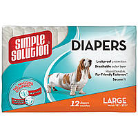 Simple Solution Disposable Diapers Large гигиенические подгузники для животных, 12шт
