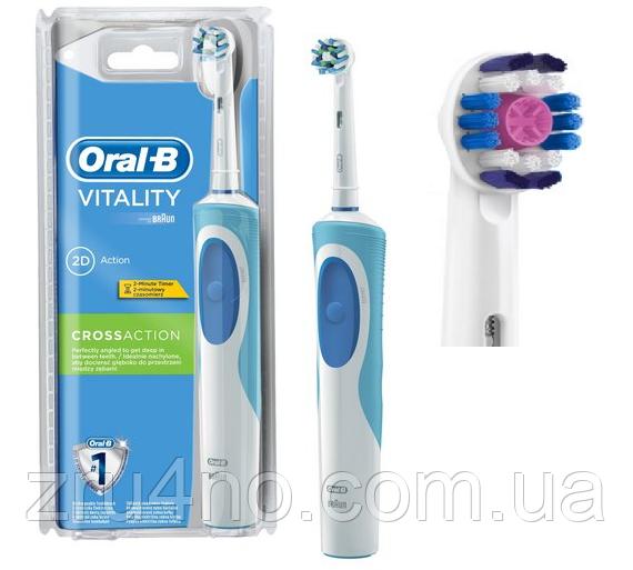 Електрична щітка Oral-B Vitality, 2 насадки в комплекті