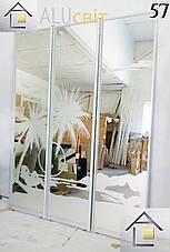 Фасади (дверей) для шаф купе (пофарбований піскоструй), фото 2