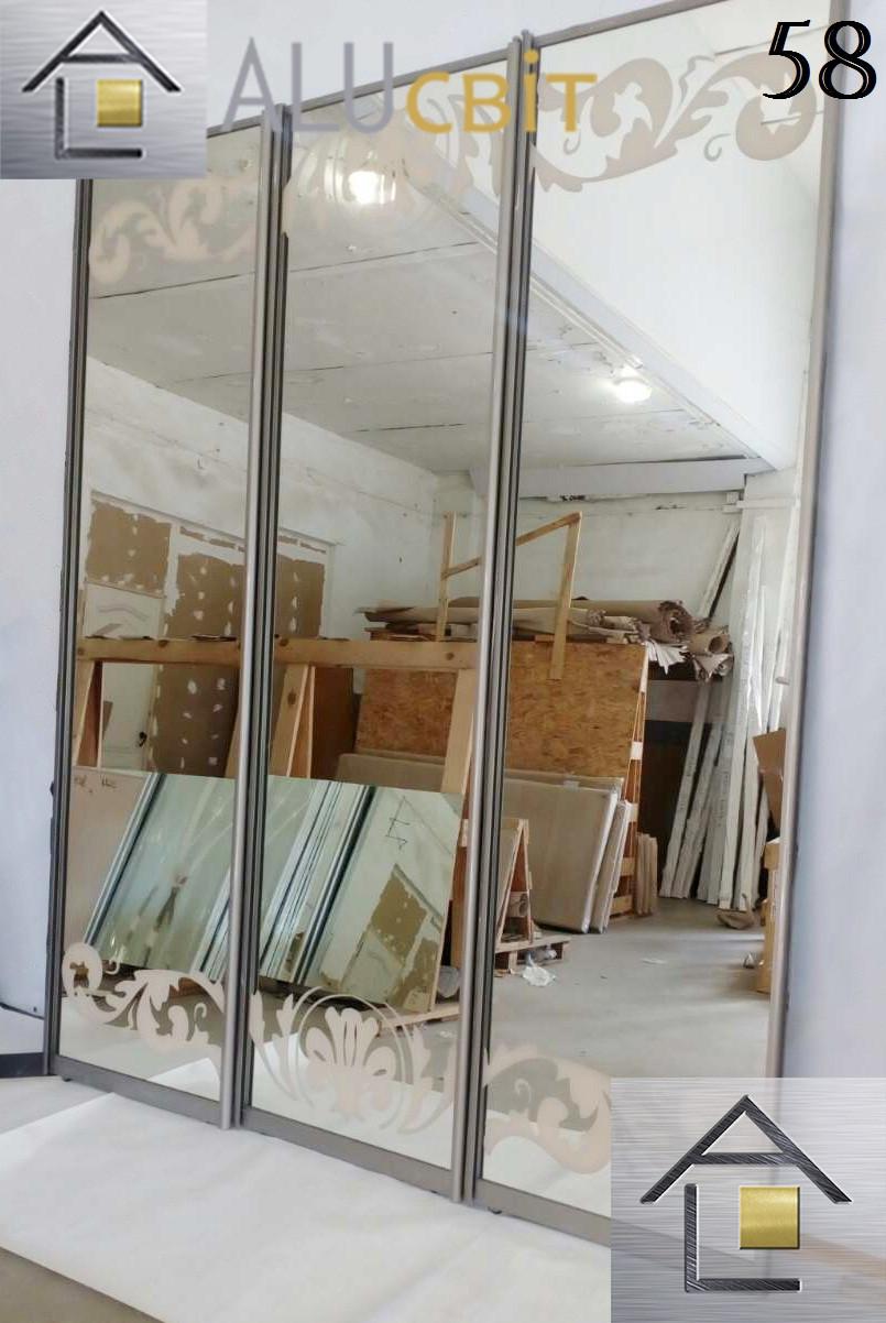 Фасады (двери) для шкафов купе (покрашенный пескоструй)