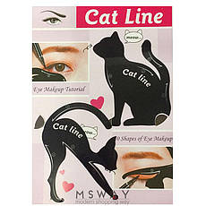 SA Макияж трафареты для подводки глаз Cat Line (1шт) А, фото 3