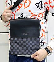 Сумка мужская  Louis Vuitton на плечо 23 см на 25 см ткань: эко кожа Супер качество