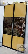Фасады (двери) зеркало бронза для шкафов купе, гардеробных, фото 3