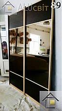 Фасады (двери) зеркало бронза для шкафов купе, гардеробных, фото 2