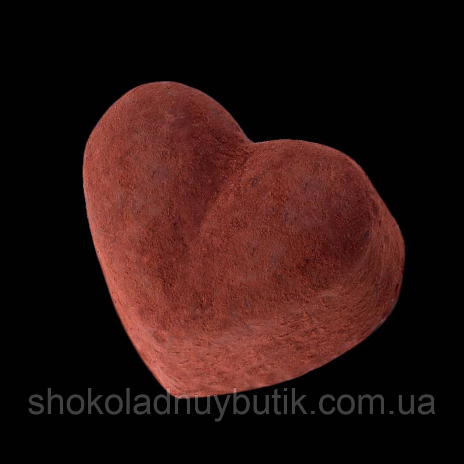 """Шоколадные конфеты ручной работы трюфель  """"Горячее сердце"""", 1 шт, 15 г."""