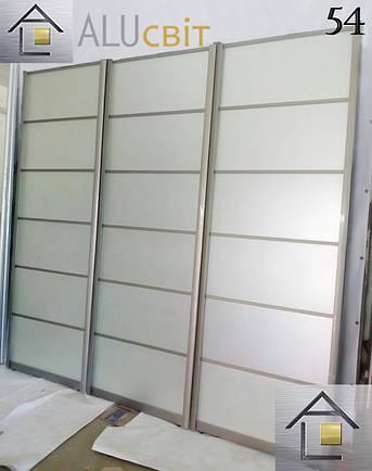 Фасады (двери) зеркало бронза/серебро сатин  для шкафов купе, гардеробных, фото 2