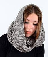 Вязаный женский шарф снуд.