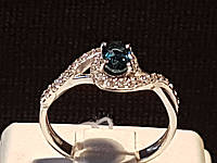 Серебряное кольцо Лезгинка с топазом. Артикул 1914/9р-TLB