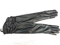 Перчатки кожаные длинные 40см утеплитель шерсть
