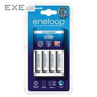 Зарядное устройство Basic Charger New + Eneloop 4AAA 750 mAh NI-MH (K-KJ51MCC04E)