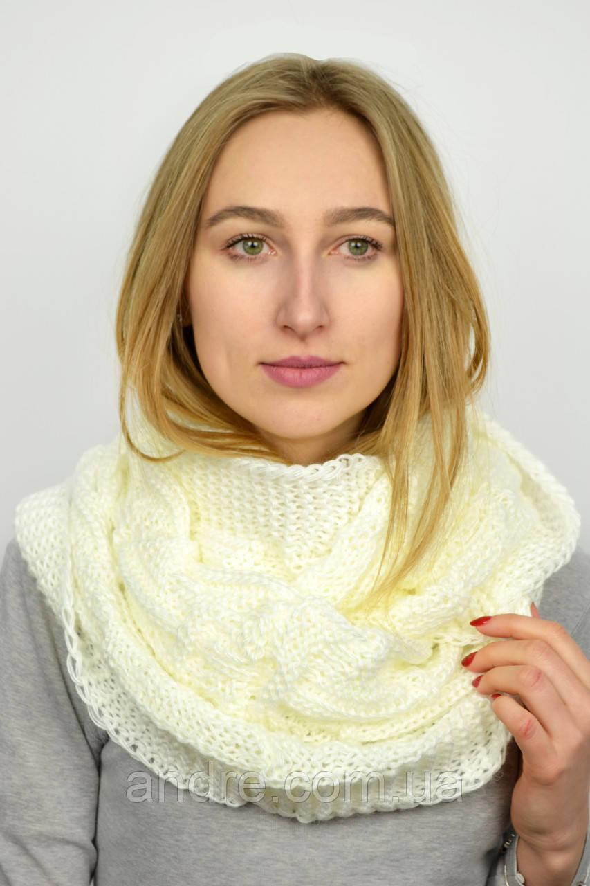 4aa51a2a160b Большие шарфы снуды Бонжур, молочный