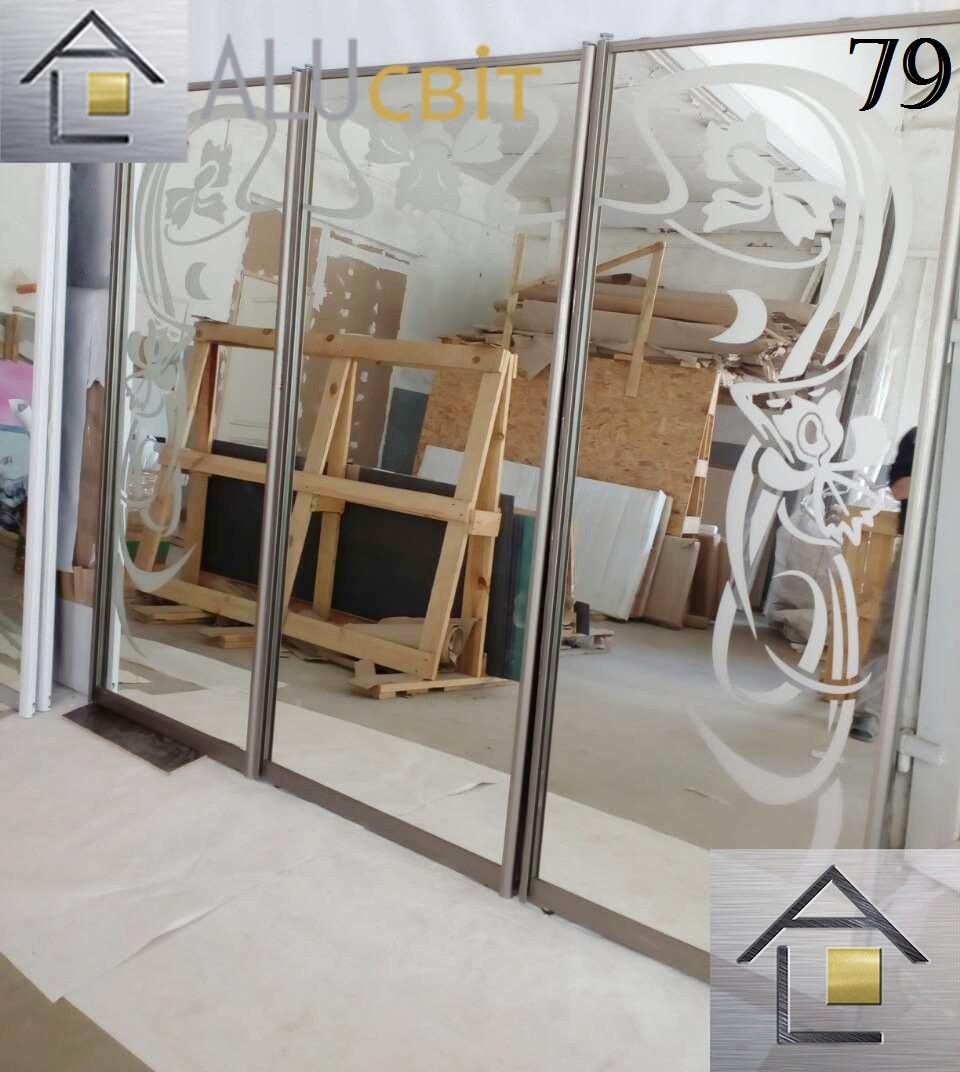 Фасади (дверей) для шаф купе, гардеробних(піскоструй)