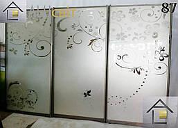Фасады (двери) для шкафов купе (покрашенный пескоструй), фото 3