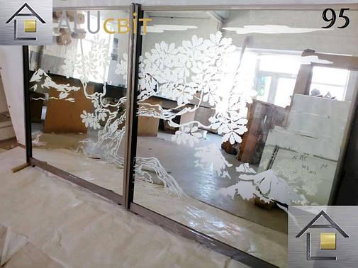 Фасады (двери) для шкафов купе, гардеробных(пескоструй), фото 2
