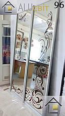 Фасади (дверей) для шаф купе, гардеробних(піскоструй), фото 2