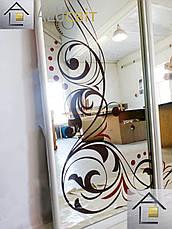 Фасади (дверей) для шаф купе, гардеробних(піскоструй), фото 3