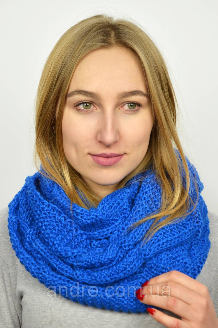 7ef78c8cdd57 Большие шарфы снуды Бонжур, голубой
