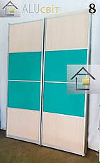 Фасады купе з комбинированным наполнением (ДСП,зеркало, стекло), фото 2