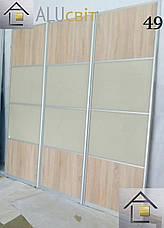 Фасады купе з комбинированным наполнением (ДСП,зеркало, стекло), фото 3