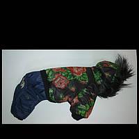 Одежда Теплый зимний комбинезон на собаку Розы