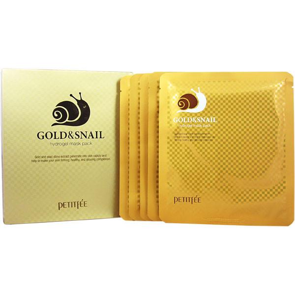 Гідрогелева маска для обличчя з золотом і равликом PETITFEE Gold & Snail Hydrogel Mask