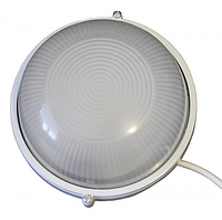 Герметичный светильник 230х100мм  IP54, Е27 без лампы, белый круг