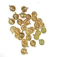 Монетки Золотые декоративные (монеты) для пояса восточных танцев, декора 1.4 см 200 шт/уп, фото 1