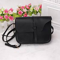 """Женская сумочка на длинной ручке, клатч """"Асимметрия Black"""""""
