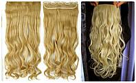Волосы на заколках затылочная прядь волна длина 57см №86/613