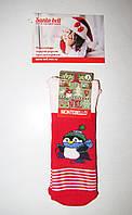 Новогодние носки детские  зимние махровые внутри хлопок Турция размер 0-1года(0), фото 1